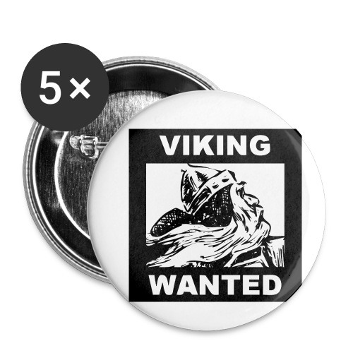 VIKING WANTED - Buttons small 1'' (5-pack)
