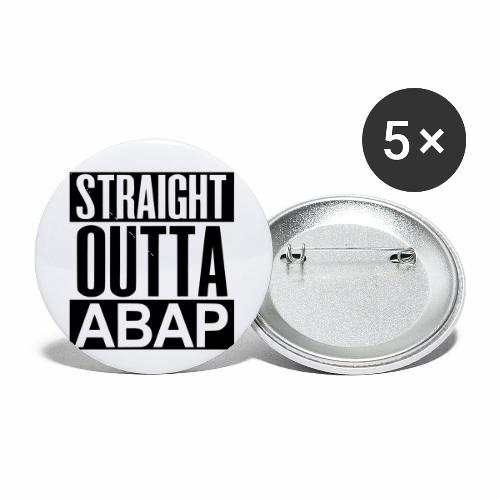StraightOuttaABAP - Buttons small 1'' (5-pack)