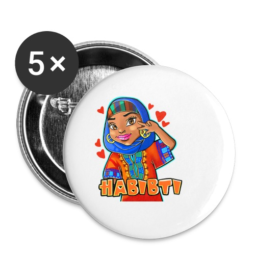 Habibti - Buttons small 1'' (5-pack)