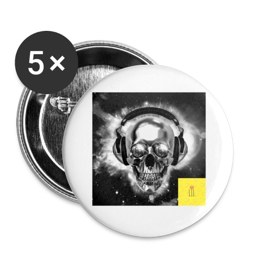 skull - Buttons small 1'' (5-pack)