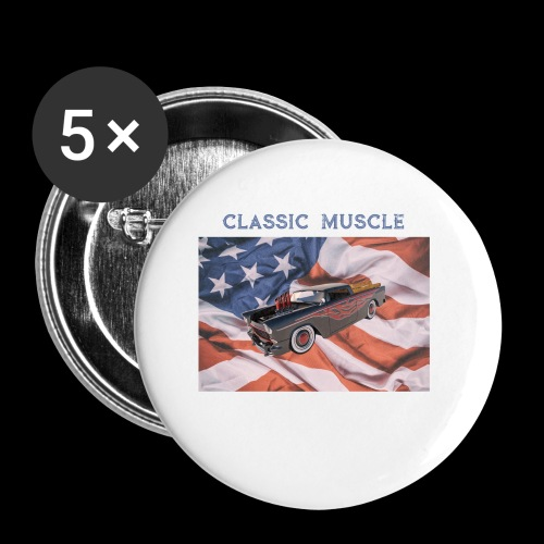 CLASSIC MUSCLE - Buttons small 1'' (5-pack)