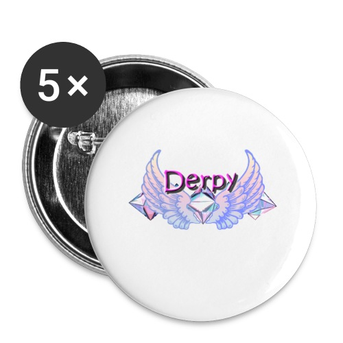 Derpy Main Merch - Buttons small 1'' (5-pack)