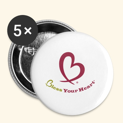 Bless Your Heart® Pink Yellow - Buttons small 1'' (5-pack)
