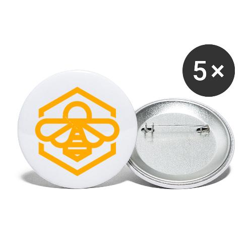 bee symbol orange - Buttons small 1'' (5-pack)