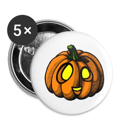 Pumpkin Halloween scribblesirii - Buttons small 1'' (5-pack)