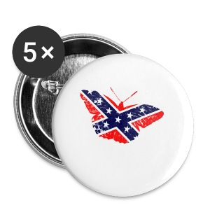 butterfly - confederate flag - Small Buttons