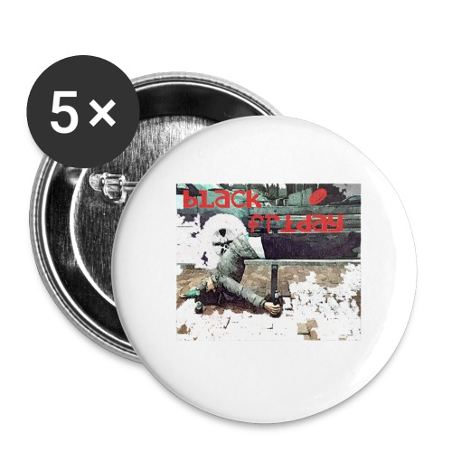 black friday - Buttons small 1'' (5-pack)
