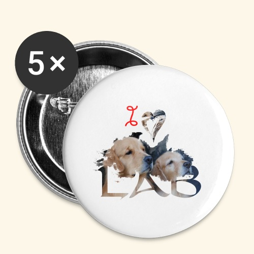 I love Lab - Buttons small 1'' (5-pack)