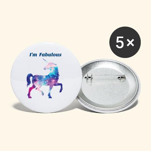 I'm Fabulous Unicorn - Buttons small 1'' (5-pack)