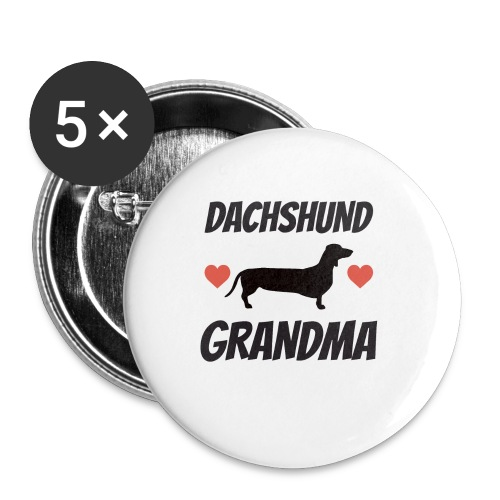 Dachshund Grandma - Buttons small 1'' (5-pack)