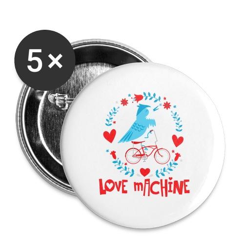 Cute Love Machine Bird - Buttons small 1'' (5-pack)