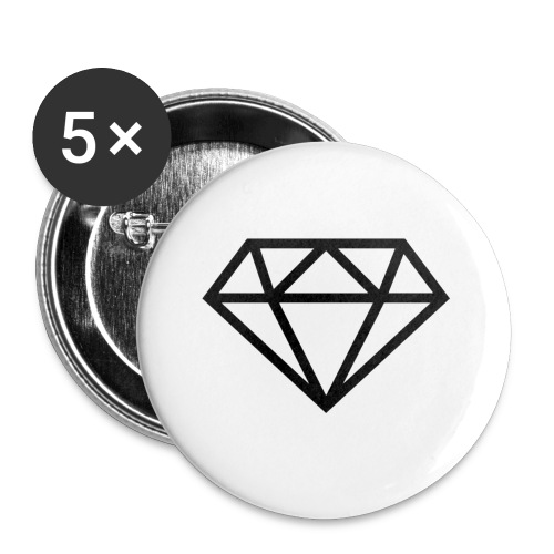 diamond outline 318 36534 - Buttons small 1'' (5-pack)