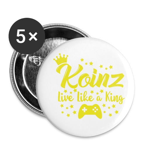 Live Like A King - Buttons small 1'' (5-pack)