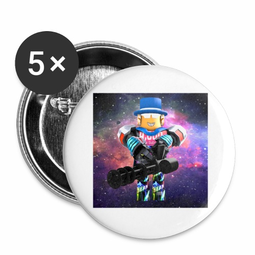 sean roblox character with minigun - Buttons small 1'' (5-pack)