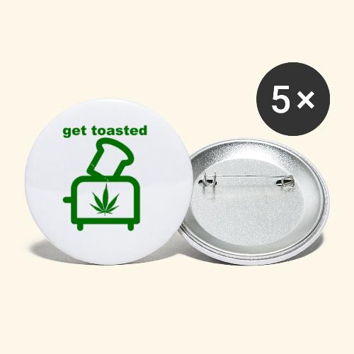 GET TOASTED - Buttons small 1'' (5-pack)