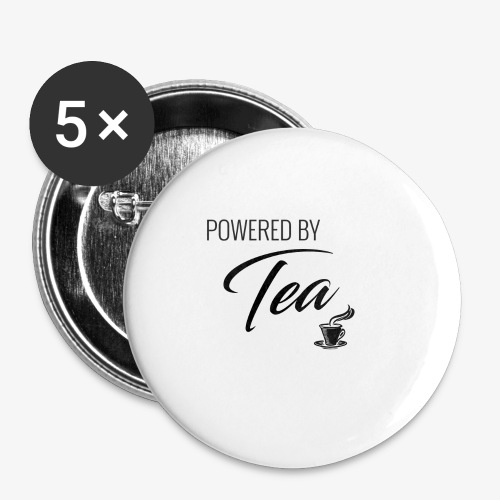 Powered by Tea - Buttons small 1'' (5-pack)
