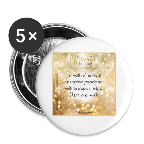Abundance - Buttons small 1'' (5-pack)