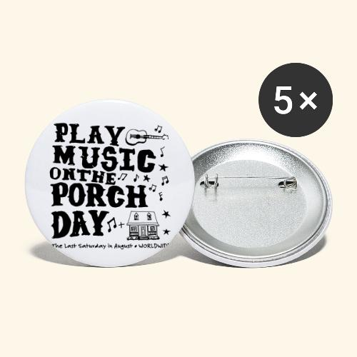 PLAY MUSIC ON THE PORCH DAY - Buttons small 1'' (5-pack)