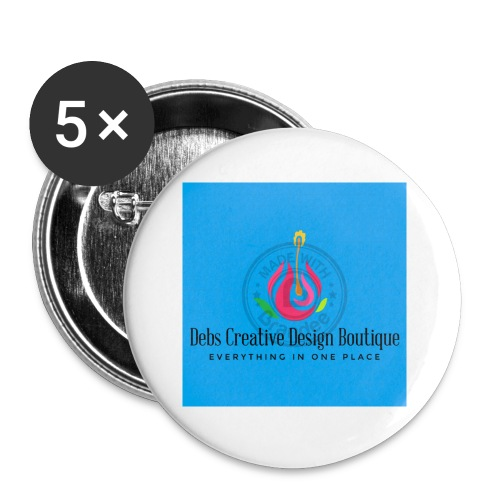 Debs Creative Design Boutique 1 - Buttons small 1'' (5-pack)