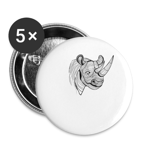 Save the Rhinos - Small Buttons