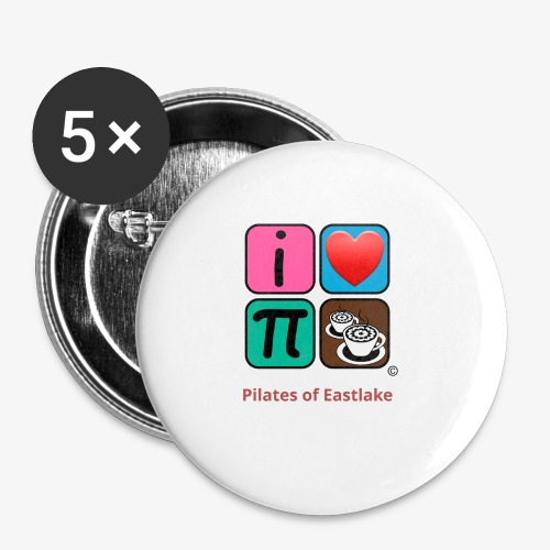color with text - Buttons small 1'' (5-pack)