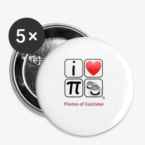 I love Pilates black and white - Buttons small 1'' (5-pack)