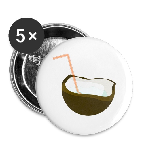 coconut water - Buttons small 1'' (5-pack)