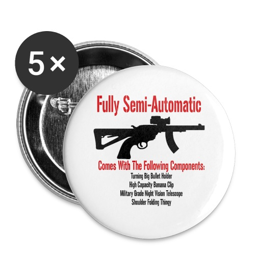 Fully Semi-Automatic - Buttons small 1'' (5-pack)