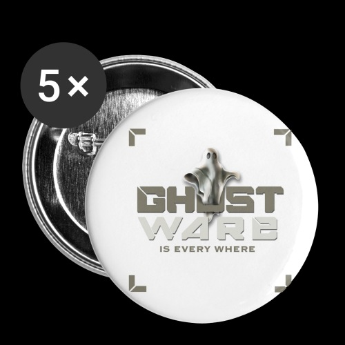 Ghostware Square Logo - Buttons small 1'' (5-pack)