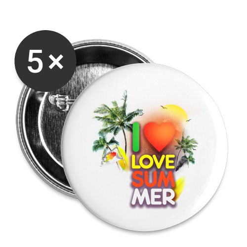 I love summer - Buttons small 1'' (5-pack)