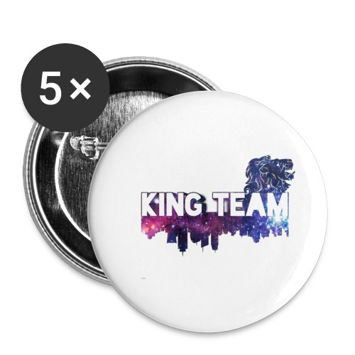 King Team - Buttons small 1'' (5-pack)