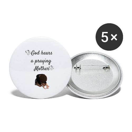 Praying Mother - Buttons small 1'' (5-pack)