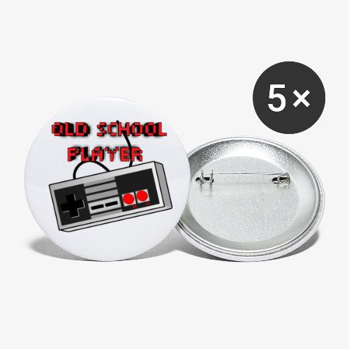 Old School Player - Buttons small 1'' (5-pack)