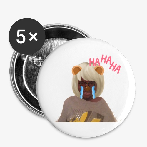 CJ Toys Ha Ha Ha - Buttons small 1'' (5-pack)