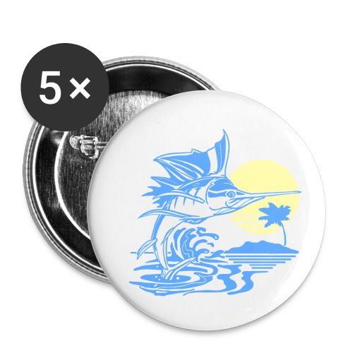 Sailfish - Buttons small 1'' (5-pack)