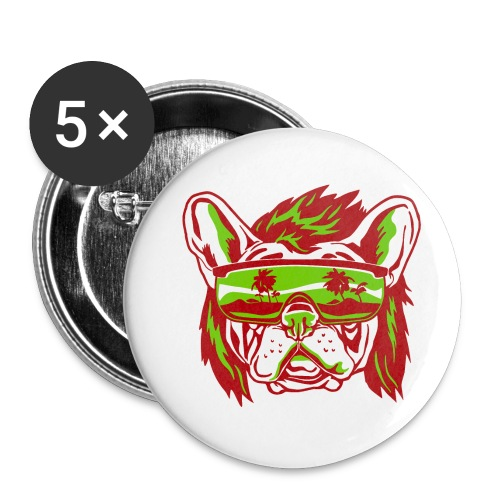 Beach Pooch - Buttons small 1'' (5-pack)