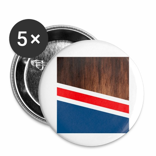 Wooden stripes - Buttons small 1'' (5-pack)