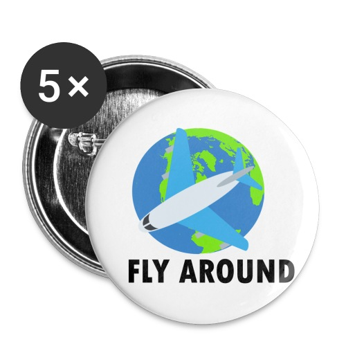 Fly Around Logo - Buttons small 1'' (5-pack)