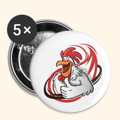 cartoon chicken with a thumbs up 1514989 - Buttons small 1'' (5-pack)