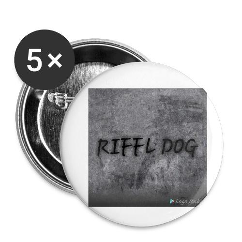 RIFFLE DOG pin - Small Buttons
