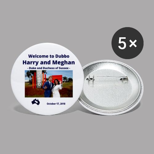 Prince Harry and Meghan Visit Dubbo - 17/10/2018 - Buttons small 1'' (5-pack)