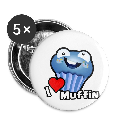 I Love Muffin - Buttons small 1'' (5-pack)