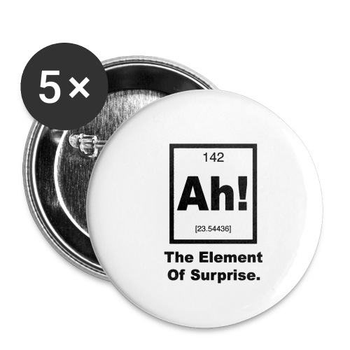 Ah The element of surprise - Buttons small 1'' (5-pack)
