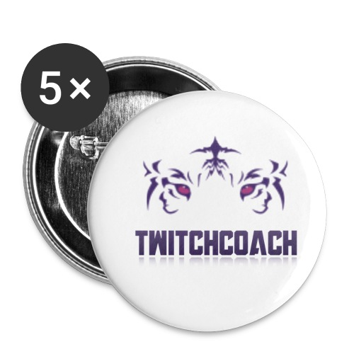 TwitchCoach Merch - Buttons small 1'' (5-pack)