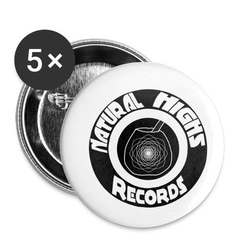 Natural Highs Records - Buttons small 1'' (5-pack)
