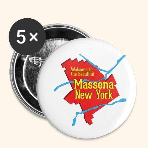 Massena NY Red - Small Buttons