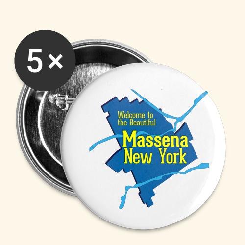 Massena NY Blue - Small Buttons