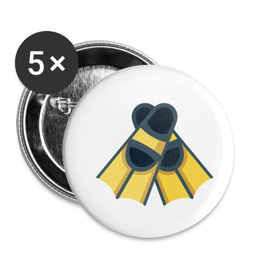 Diving Flippers - Buttons small 1'' (5-pack)