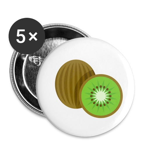 Kiwi Fruit - Buttons small 1'' (5-pack)