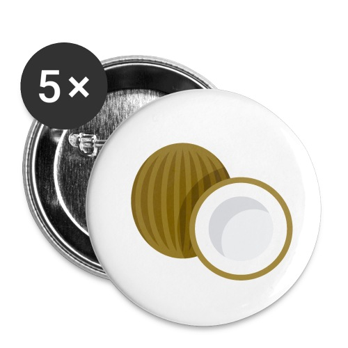 Coconut - Buttons small 1'' (5-pack)